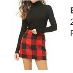 Forever 21 plaid wool skirt